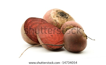 beet vegetable studio isolated over white