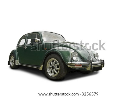 beetle car - stock photo
