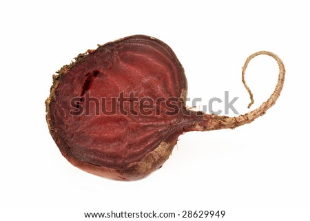 beetroot insulated on white background
