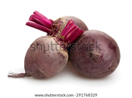 beetroot isolated - stock photo