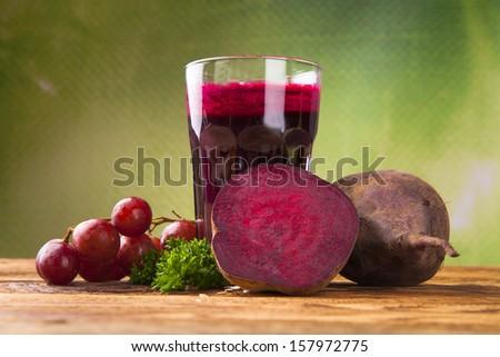 Beetroot juice, breakfast  - stock photo