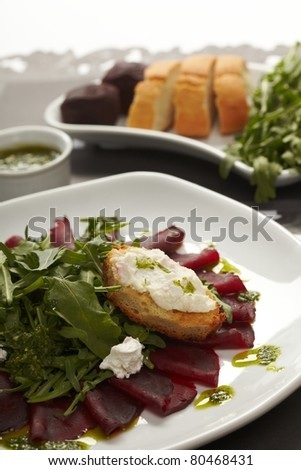 Beetroot salad with sauce