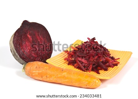 Beetroot vegetable vitamin is used for salads and borscht in Eastern Europe - stock photo