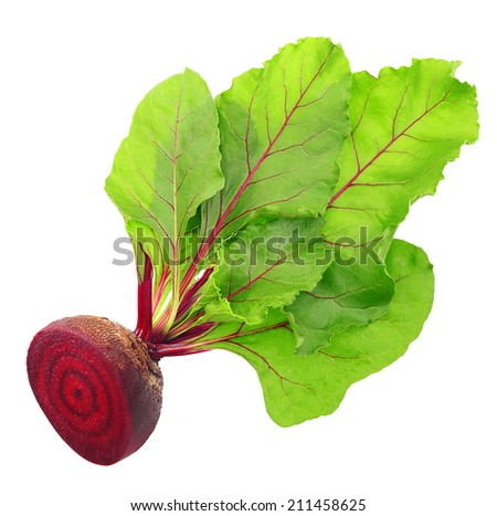 Beetroot Leaves Beetroot With Leaves Isolated