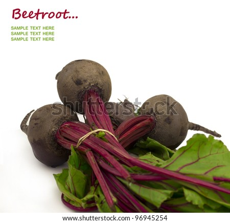 beetroot with place for the text - stock photo