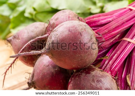 beetroots close up