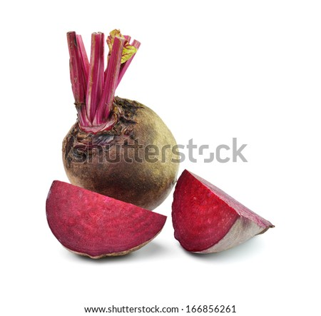 Beetroots isolated on white background - stock photo