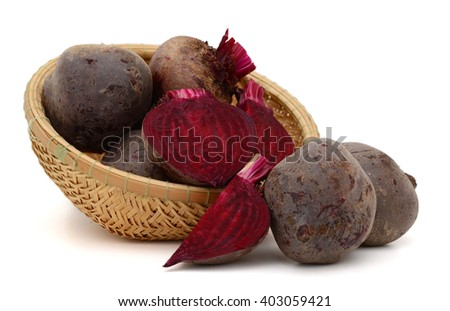 Beets on white background - stock photo