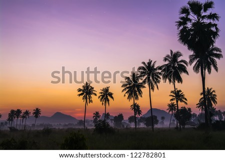 Before Dawn. Chonburi Province, Thailand. - stock photo