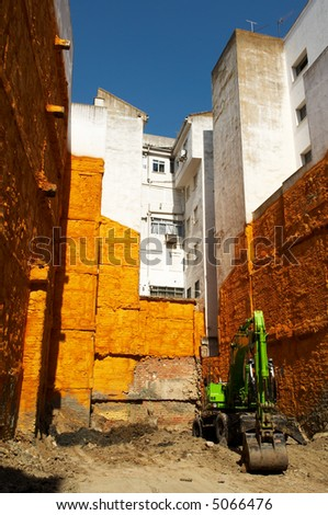 Before reconstruction - stock photo