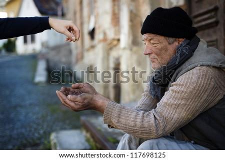 Beggar - stock photo