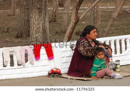begging - stock photo