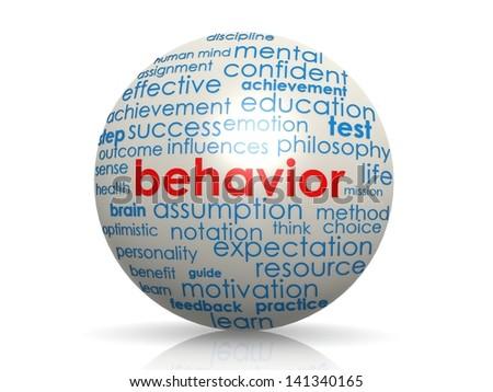 Behavior sphere - stock photo