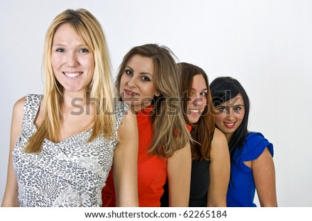 Behind - stock photo