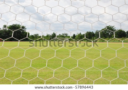 behind Football goal