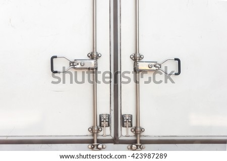behind the transportation truck  - stock photo