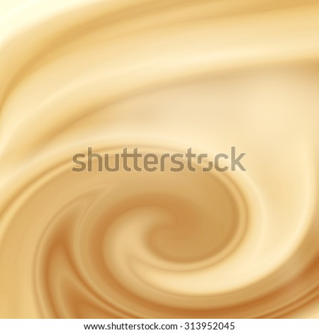 beige abstract swirl background, cream, white chocolate or milk and coffee satin background - stock photo