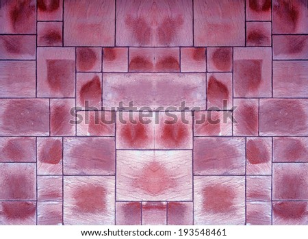 Beige and purple floor tiles - stock photo