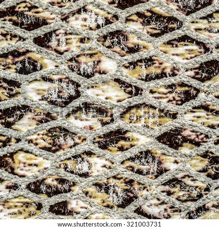 beige artificial snake skin texture closeup - stock photo