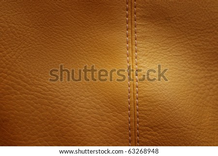 beige background of seamed imitated leather - stock photo