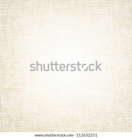 beige background pattern canvas texture background and delicate vignette - stock photo