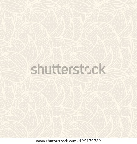 beige background with silhouettes of plants. Use as wallpaper or a neutral backdrop. seamless texture  Neutral floral ornament. plant motives. Beige tone. - stock photo