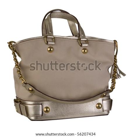 beige bag - stock photo
