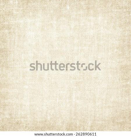 beige canvas fabric texture vintage background - stock photo