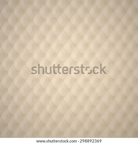 Beige Capitone Upholstery Pattern Background with Buttons for Decoration. Classics and Rococo. Rendering in 3D Program. - stock photo