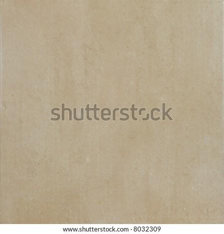 Beige ceramic tile - stock photo