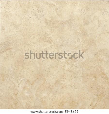 Beige ceramic tile with texture - stock photo
