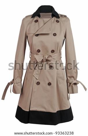 beige coat - stock photo