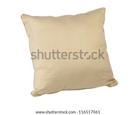 beige color cushion for relax time - stock photo
