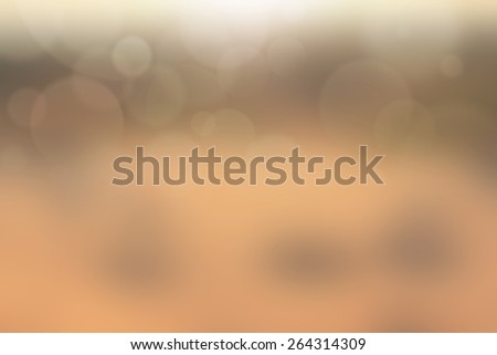 Beige Color with no light rays and blurred background - stock photo