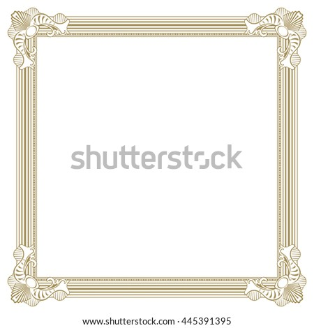 Beige colored ornate photo frame for artwork