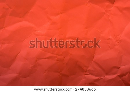 Beige crumpled paper for background, vintage style - stock photo