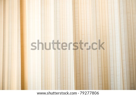beige curtain fabric background texture. - stock photo