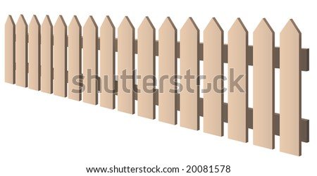 beige fence - an illustration of an isolated object