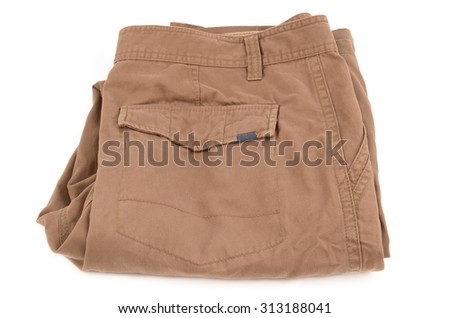 beige jeans - stock photo