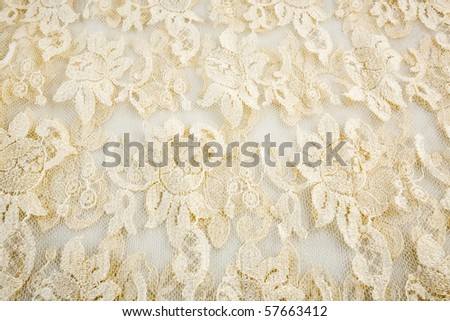 Beige lace - stock photo