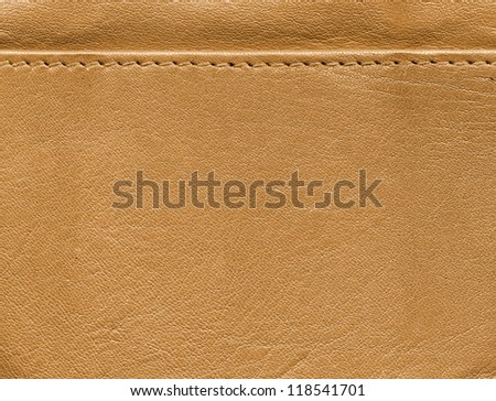 Beige leather background texture - stock photo