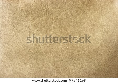 Beige leather for background usage - stock photo