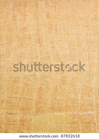 beige leather texture closeup for background and design works