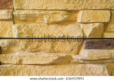 Beige limestone wall surface