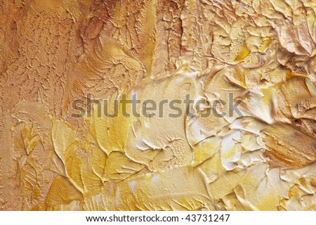 Beige oil painting texture - stock photo