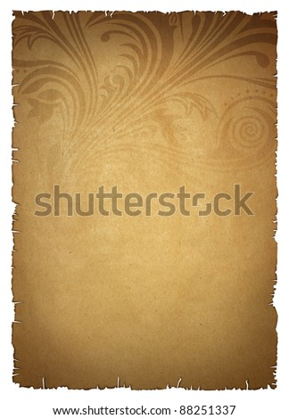 beige old paper with pattern - stock photo