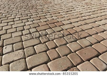 Beige pavement. background pattern. - stock photo