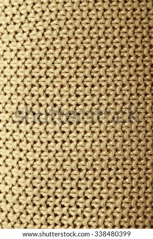 Beige pillow close-up background - stock photo