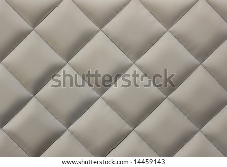 Beige quilted background - stock photo