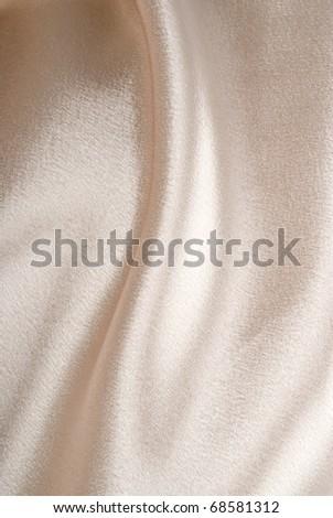 Beige Satin Background - stock photo